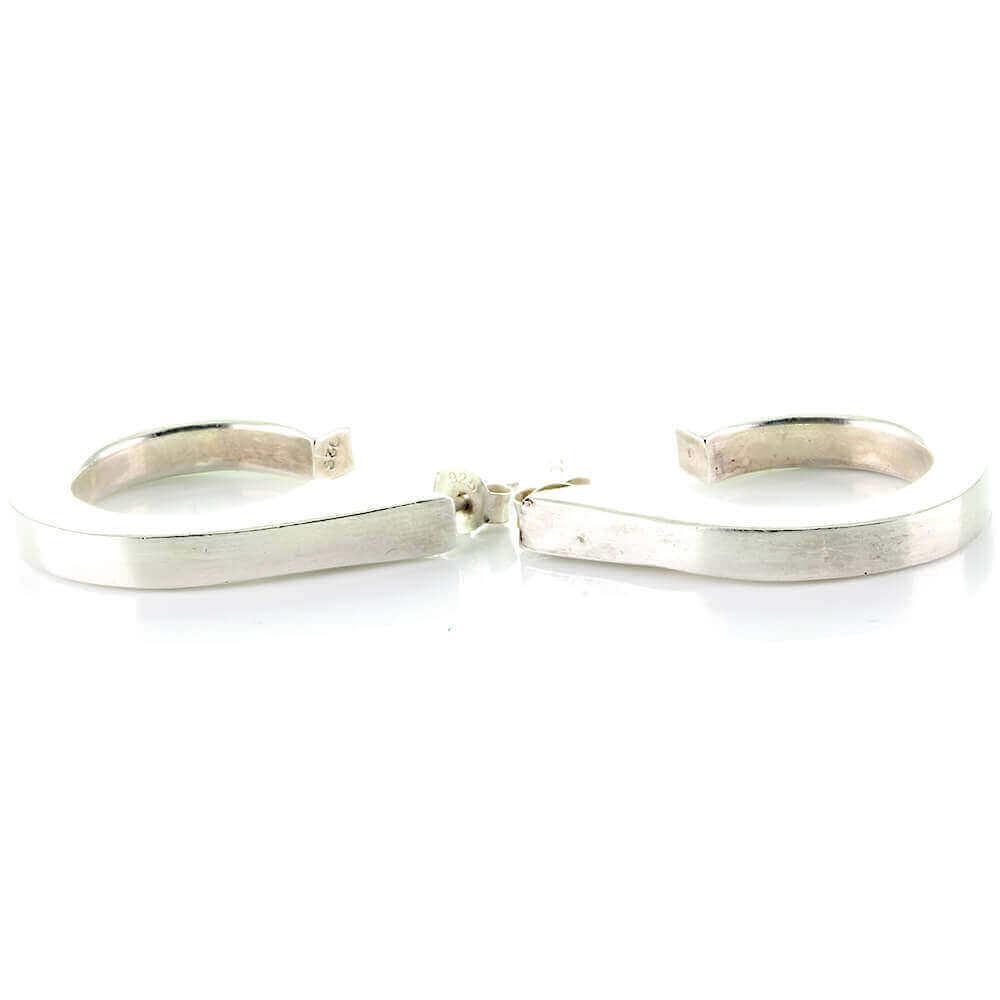 Stylishe Damen Creolen Ohrringe Aus Silber 925 Im Modernen Stil