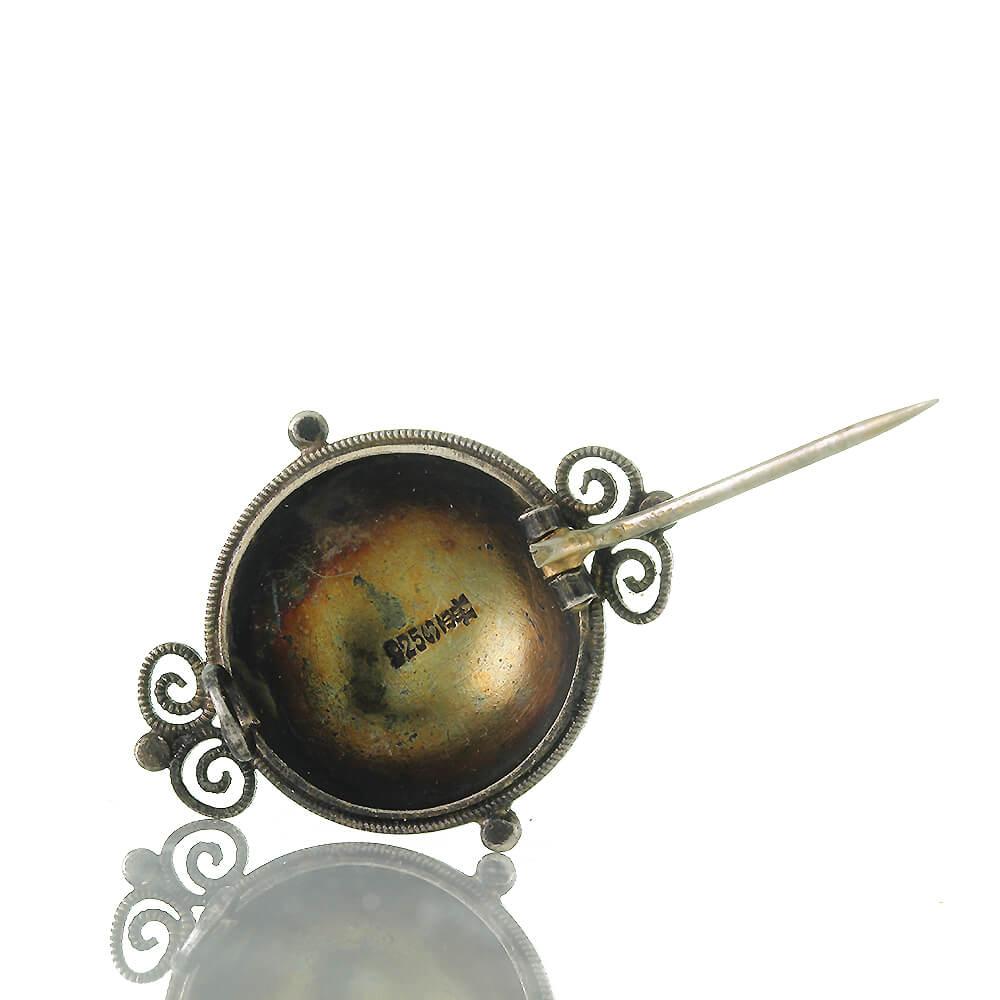 Schmuck & Accessoires David Andersen Norwegen Sehr Schöne Seltene Emaille Brosche Aus 925 Silber