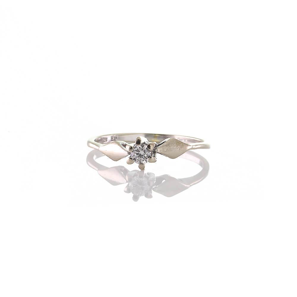 Solitar Verlobungsring Aus Weissgold 585er Si H 0 11 Ct Diamant